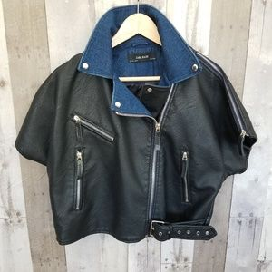 Faux leather with Jean jacket